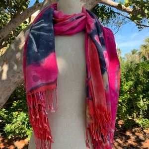 Tencel hand painted scarf by; Cori Scheft
